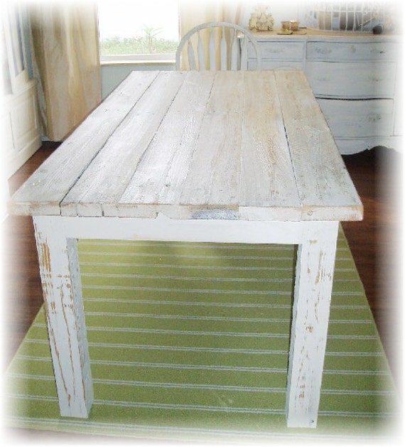 Shabby chic farm dining table free shipping - Table basse shabby chic ...