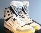 Rare 1980s Puma High / Hi Top Sneakers - 10.5
