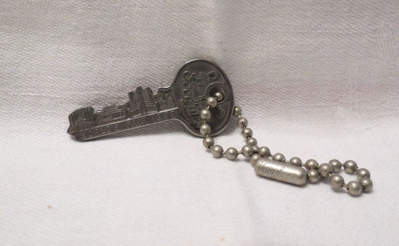 Vintage 1933 Chicago  Worlds Fair Key Souvenir For Good Luck by Master Lock