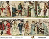 Shakespeare Couples Unusual - Digital Collage Sheet (No 016)