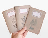 Notebook Botanic Trio - lot of 3 - lined & blank pages
