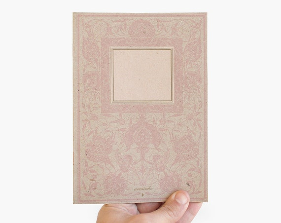 SALE - notebook - lined - floral rose - limited edition of 30 - FLO5001