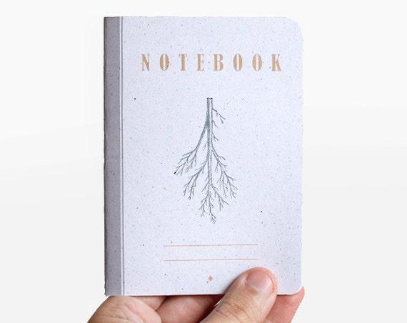 notebook - blank -  root -  grey and orange -  VAR6001B