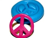 Buy 3 Get 1 Free - Peace Sign Silicone Mold Mould Fondant Miniature Food Resin Clay Polymer Kawaii