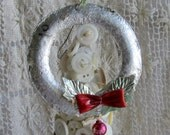 Christmas in July Vintage wreath ornaments