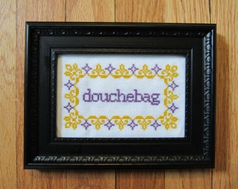 PATTERN Douchebag cross stitch