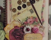 Personal Journal, Shabby Chic, Victorian or Vintage Rose designs