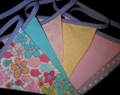 Double sided Bunting Flag Banner, photo prop. Decoration, great for nurseries. Custom made your choice of color.