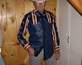 Sierra Men's Western Shirt - Size S/M