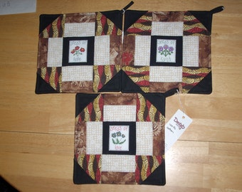 Seeds of Love, Seeds of Hope, Seeds of Faith potholders