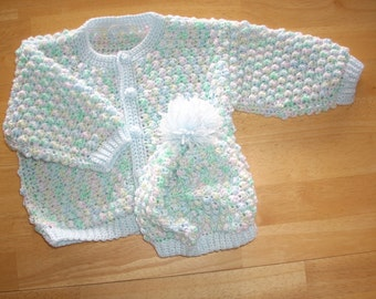 Baby Jewels Sweater/Hat - Size 6 - 12 months