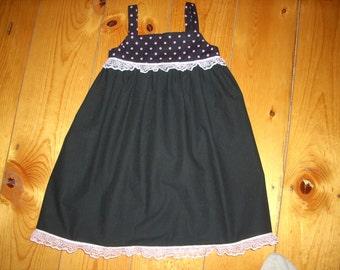 Toddler Pink Polka Dot Dress/Jumper - Size 3/4