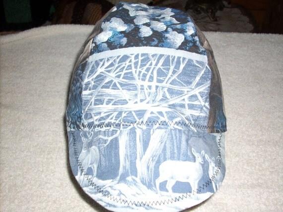 Deer Motif Welder's Cap