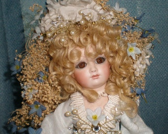 Hand Made Porcelain Doll On Revolving Music Box - Reduced