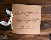 Rustic Wedding Programs Kraft and Lace