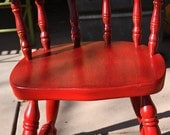 Red Vintage Reclaimed Chair