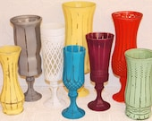 Set Of Five Your choice Of Color Vintage Shabby Chic Pedestal Vase