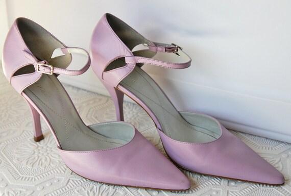 Lavender Leather Pumps