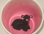 Black Lamb Surprise Mug (Made to Order)