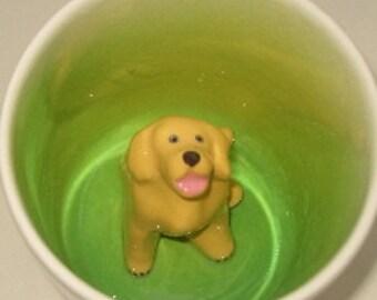 Golden Retriever Mug, Dog Coffee Mug, Hidden Dog Surprise Cup (Made to Order)
