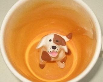 Brown Spotted Dog Surprise Mug (Made to Order)