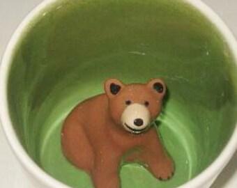 Brown Bear Surprise Mug (Made to Order)