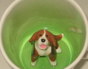 Beagle Surprise Mug (Made to Order)
