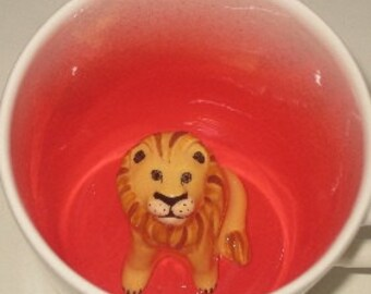 Lion Surprise Mug, Coffee Cup (In Stock)