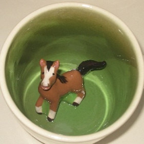 Little Horse Surprise mug (Made to Order)