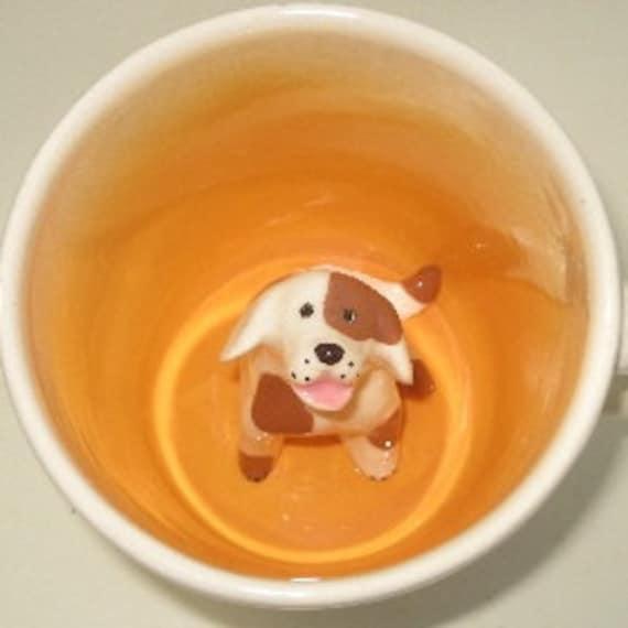 Brown Spotted Dog Surprise Mug