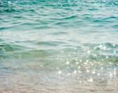 25% OFF SALE Ocean photograph 24x36 Fine Art Photograph. Large wall art peaceful landscape meditation zen sea waves nautical aqua