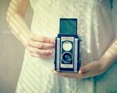 Special Edition Signed Fine Art Photograph Her Favorite Pastime. Fine Art Photograph. Kodak Duaflex. Soft. White. Creative. Vintage 8x8