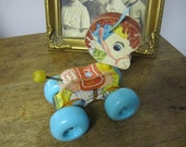 1962 Fisher Price Patch Pony Pull Toy