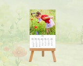 2012 desk Calendar art photography, home decor. Valentines day gift for her. Baby children love red green oht