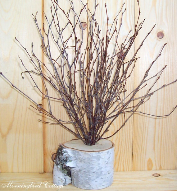 REDUCED PRICE - Birch and Branches Wedding Centerpiece - Shabby Chic Wedding, Rustic Wedding, Woodland Wedding