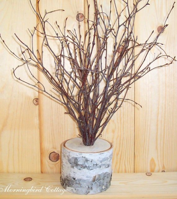 Birch and branches wedding centerpiece wish by