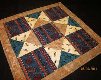 Southwest Square Bookshelf Quilt