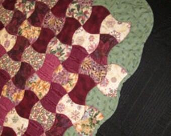 Shades of Aubergine  Quilt