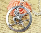 SALE - The Hunger Games pendant ,Inspired Mocking Jay Necklace