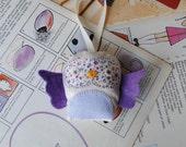 Owl lavender sachet/bag. Lilac.