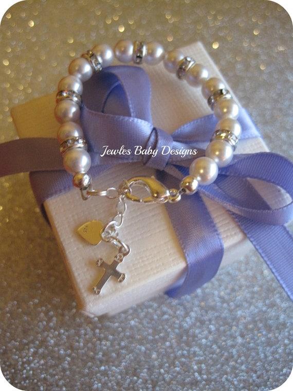 SWAROVSKI Baby bracelet Gift set for Baptism, blessing, christening or communion.