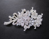 1 Rhinestone Crystal Flower -- perfect for hair comb, headband, pendant, tiara, bracelet