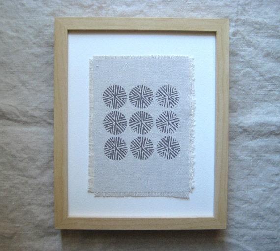 SALE / 5x7 Art Print on Hemp Canvas / Spun Chestnut