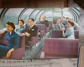 Union Pacific Giant Postcard featuring Astra Dome Lounge Cars for Collage, Mixed Media, Scrapbooking, ATC's, Collectors and more