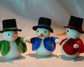 Snowman  -Christmas- Flower Child - Waldorf  Inspired