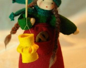 Lantern Girl or Boy - Flower Child - Waldorf Inspired - Nature Table