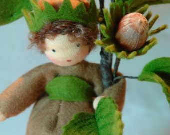 Hazelnut - Flower Child - Waldorf Inspired - Nature Table