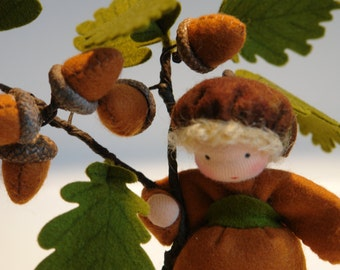 Acorn - Flower Child - Waldorf Inspired - Nature Table