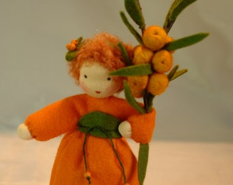 Sea Buckthorn  - Flower Child - Waldorf Inspired - Nature Table