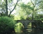 bridge fine art photograph, river photo, rural photograph 5x7 inch